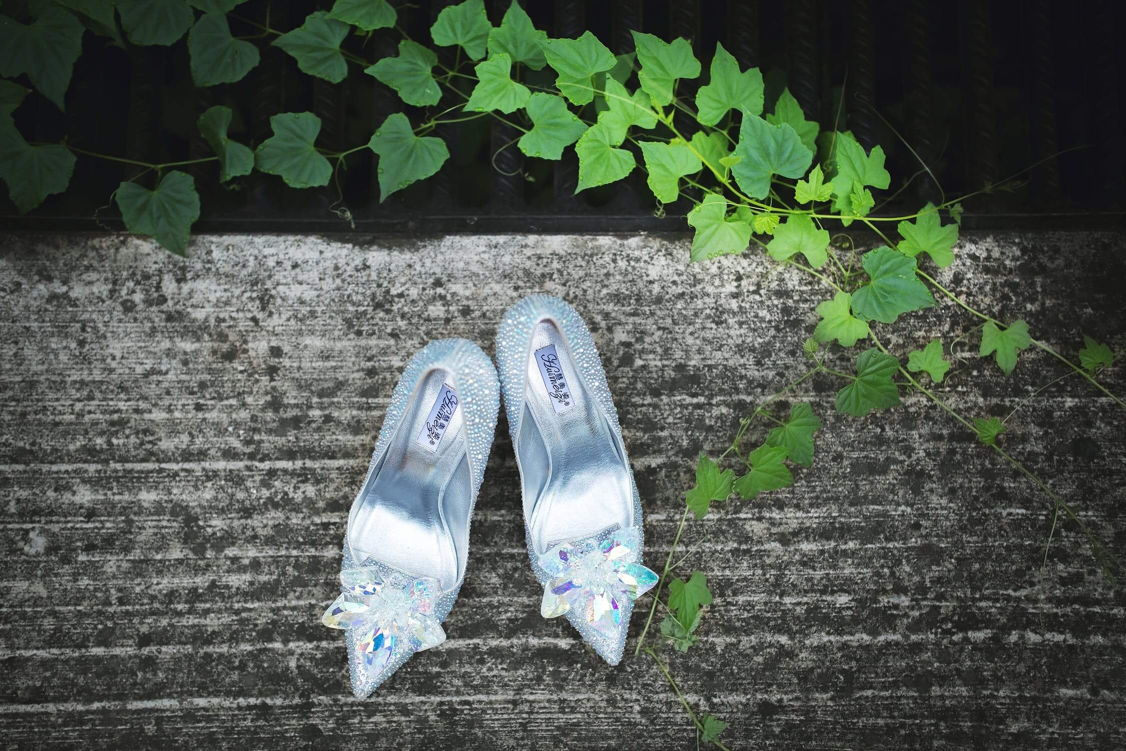 """Something Old, Something New, Something Borrowed, Something Blue – and a silver sixpence in her shoe"""